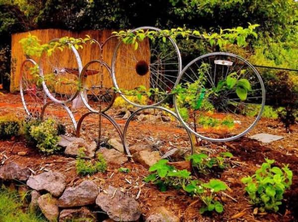 Уход за растениями на даче означает не только полив, внесение удобрений и обрезку, но и подвязку растений, создание специальных опор для правильного роста и плодоношения