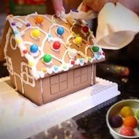 Пряничный имбирный домик на Новый год