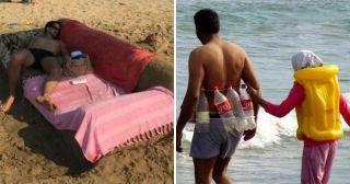 Подсмотрено на пляже – 16 нереально смешных фото с отдыха