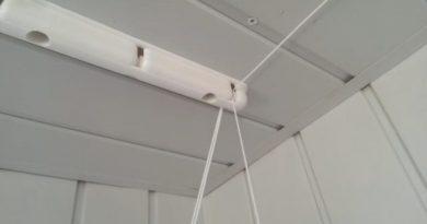 Выбираем и устанавливаем потолочную сушилку на балкон